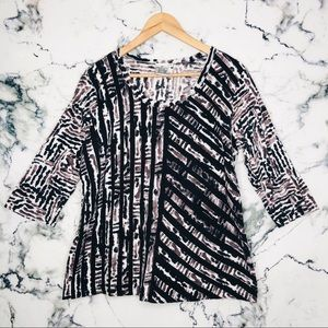 🧡3/$25🧡Parsley&Sage Abstract Shirt Plus Size 1XL